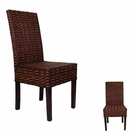 Stylishly Designed Rattan Chair, Brown