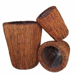 Sea Grass Willow Basket, Brown, Set Of 3