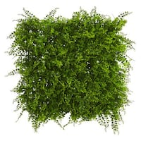 """20"""" x 20"""" Lush Mediterranean Artificial Fern Wall Panel UV Resistant Green (Indoor/Outdoor) (As Is Item)"""