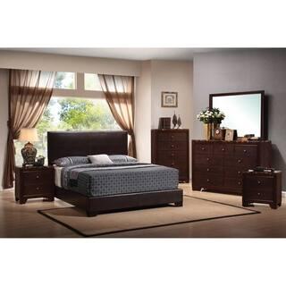 Conrad Marble 6 Piece Bedroom Set With 2 Nightstands