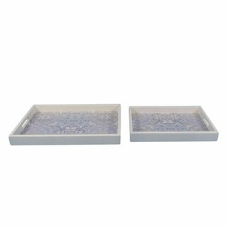 Modern Set Of Two Aesthetic Trays, White