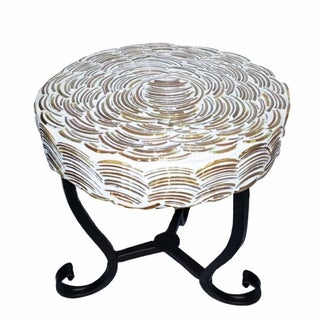 Mosaic/Metal Round Table, Multicolor