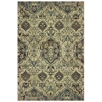 Style Haven Borderless Traditional Ivory/Grey Dense Pile Area Rug - 9'10 x 12'10