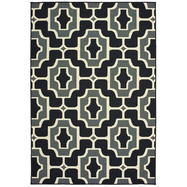 "Havenside Home Pavlof Bay Geometric Tile Indoor/ Outdoor Area Rug - 5'3"" x 7'6"""