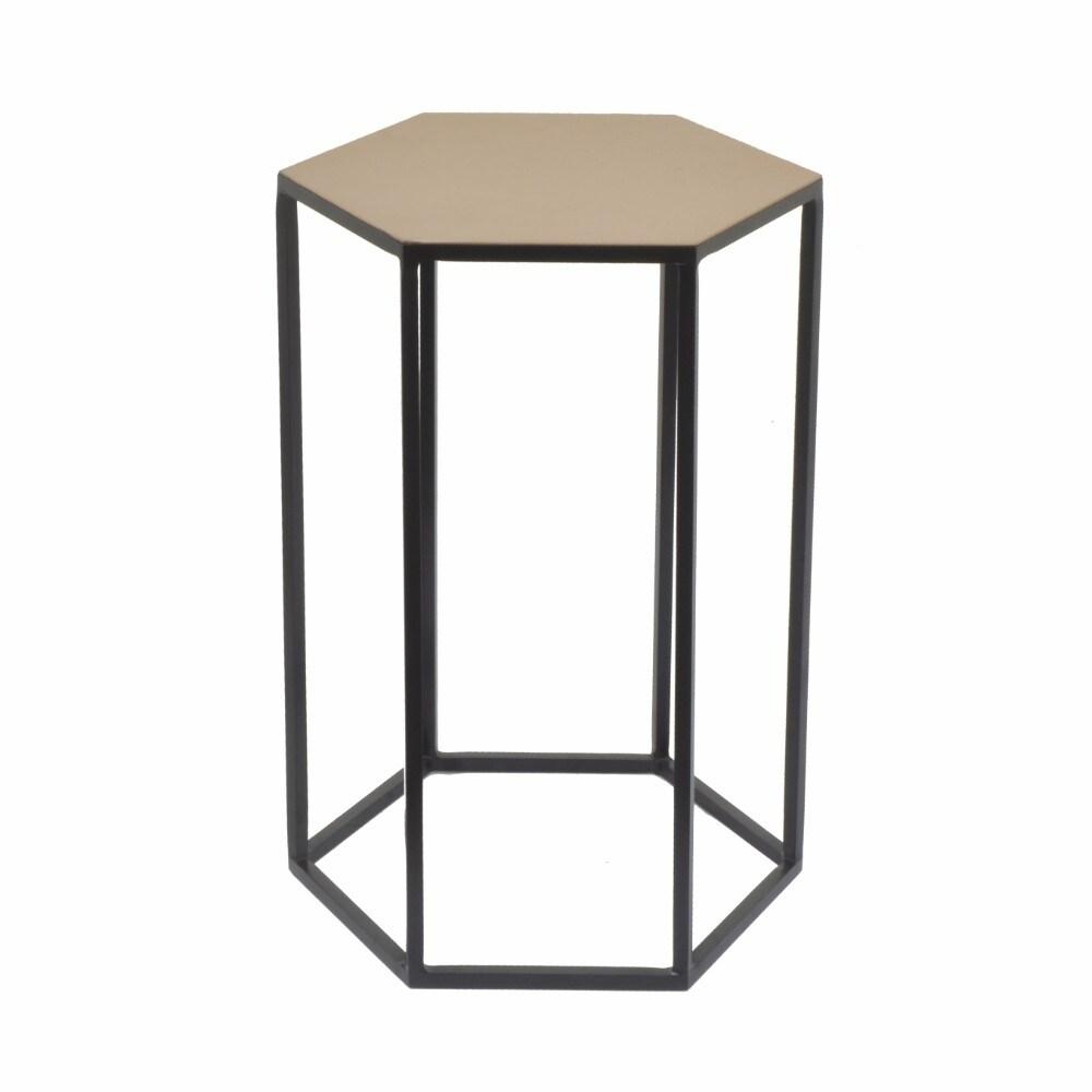 - Shop 82437 Hexagonal Top Metal Accent Table - Small - - Overstock - 21715846