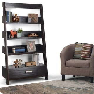 WYNDENHALL Harriet Solid Wood Ladder Shelf & Bookcase