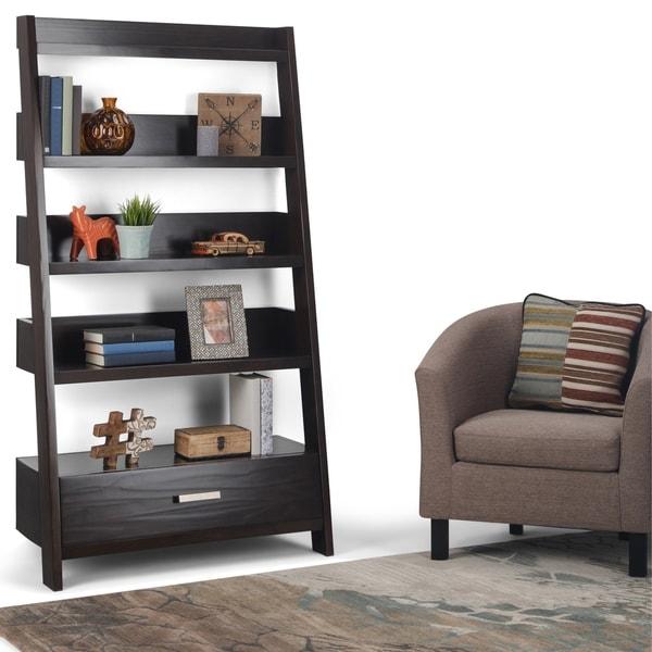 Shop Wyndenhall Harriet Solid Wood Ladder Shelf Amp Bookcase