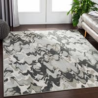 "Diell Camel Modern Abstract Area Rug (7'10"" x 10'6"") - 7'10 x 10'6"