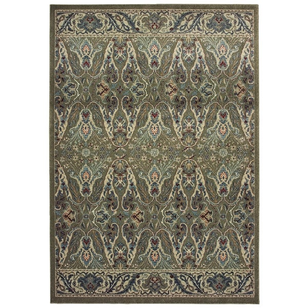 """Updated Classics Brown/ Ivory Dense Pile Area Rug - 1'10"""" x 3'"""