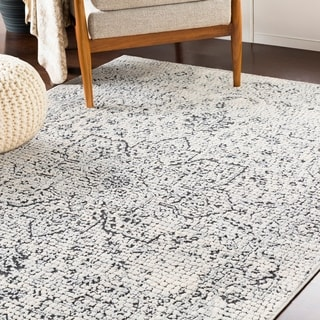 "Anzio Gray Distressed Mosaic Area Rug (9'3"" x 12'3"") - 9'3"" x 12'3"""