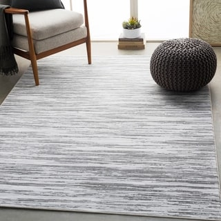 "Gordon Light Gray Modern Abstract Area Rug - 9'2"" x 12'9"""