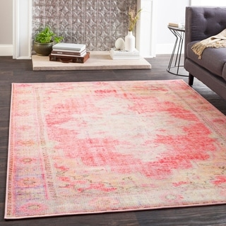 "Hurst Bright Pink Boho Medallion Area Rug - 7'10"" x 10'3"""