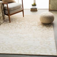 Hedley Beige Modern Abstract Area Rug - 7'10 x 10'