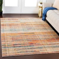 Lawrence Wheat & Multicolor Contemporary Wool Blend Area Rug - 8' x 11'
