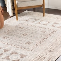 "Padua Beige & Brown Distressed Mosaic Area Rug - 9'3"" x 12'3"""