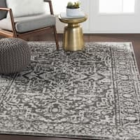 Abbas Gray Vintage Traditional Area Rug - 7'10 x 10'3