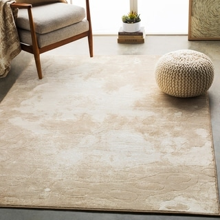 "Harmon Beige Modern Abstract Area Rug - 9'2"" x 12'9"""