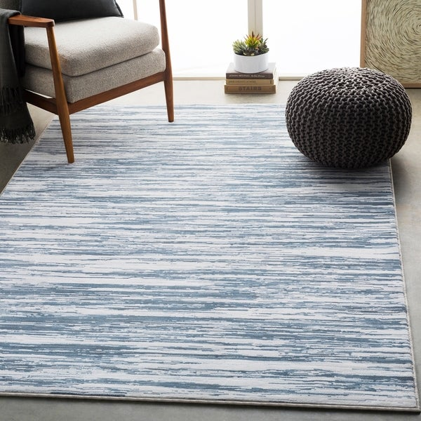Shop Gordon Denim Modern Abstract Area Rug 7 10 Quot X 10