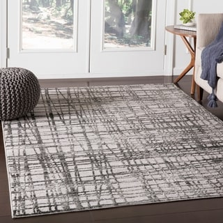 """Pema Charcoal Contemporary Abstract Area Rug - 7'10"""" x 10'3"""""""