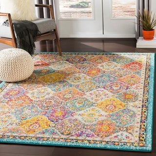"""Link to Besma Multicolor Traditional Medallion Area Rug - 8'10"""" x 12'3"""" Similar Items in Transitional Rugs"""