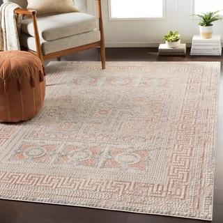 "Padua Blush & Beige Distressed Mosaic Area Rug - 3'11"" x 5'7"""