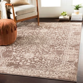 "Anzio Beige Distressed Mosaic Area Rug - 3'11"" x 5'7"""