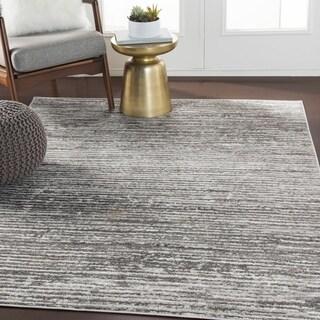 Albi Gray Contemporary Stripes Area Rug - 5'3 x 7'3