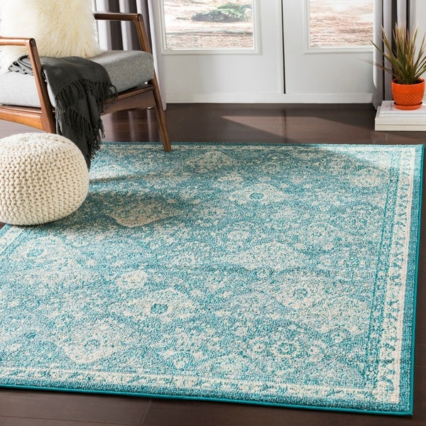 shop besma teal traditional medallion area rug 2 39 x 3 39 on sale free shipping on orders. Black Bedroom Furniture Sets. Home Design Ideas