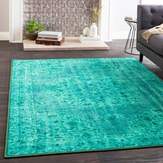 "Hurst Teal Boho Medallion Area Rug - 2'7"" x 7'3"" Runner"