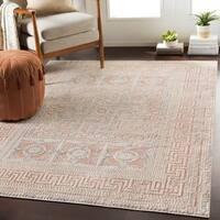 "Padua Blush & Beige Distressed Mosaic Area Rug - 7'10"" x 10'3"""