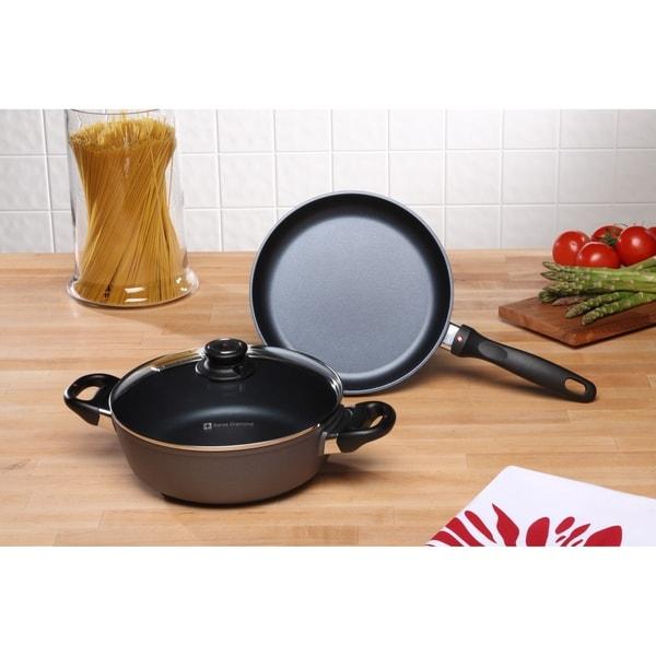 Shop Swiss Diamond Hd Induction 3 Piece Set Fry Pan And