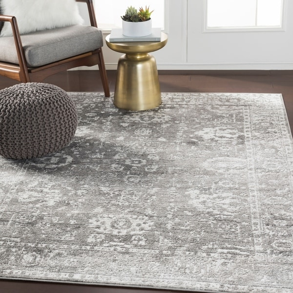 "Reimes Gray Distressed Traditional Area Rug - 5'3"" x 7'3"""