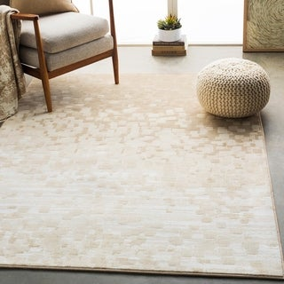 "Hedley Beige Modern Abstract Area Rug - 5'3"" x 7'6"""