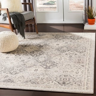 "Besma Beige Traditional Medallion Area Rug - 5'3"" x 7'3"""