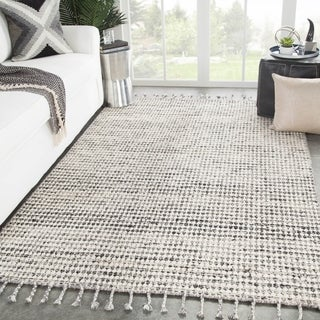 Armon Handmade Dot Ivory/ Black Area Rug - 8' x 11'