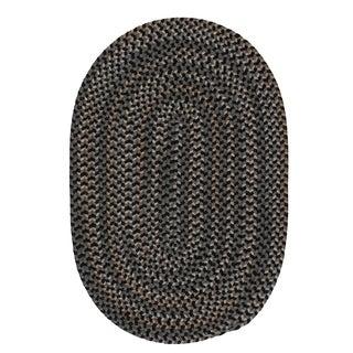 Colonial Mills Seena Greystone Black/Grey Braided Oval Area Rug - 8' x 11'