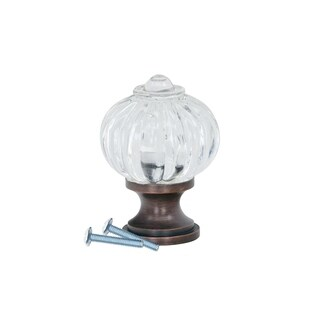"""Clear Pumpkin Brushed Oil-Rubbed Bronze Cabinet Knob 1-3/32"""""""