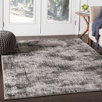 "Dorji Charcoal Contemporary Abstract Area Rug - 7'10"" x 10'3"""