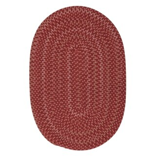 Colonial Mills Seena Red/Rust Bliss Rustic Braided Area Rug - 10' x 13' Oval
