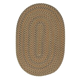 Seena Rusted Oak Braided Area Rug - 12' x 15'