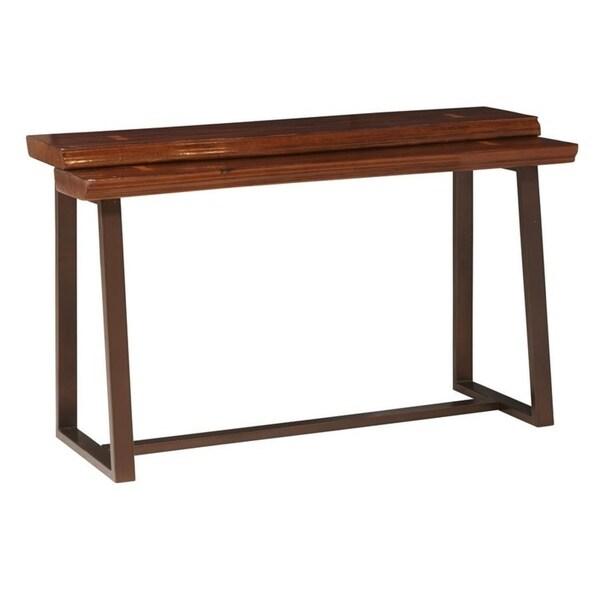 Kempten Walnut Maple Sofa Table