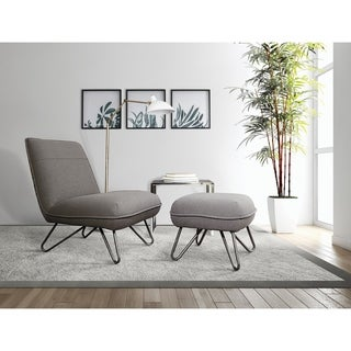 Link to Strick & Bolton Inna Accent Chair and Ottoman Similar Items in Living Room Chairs