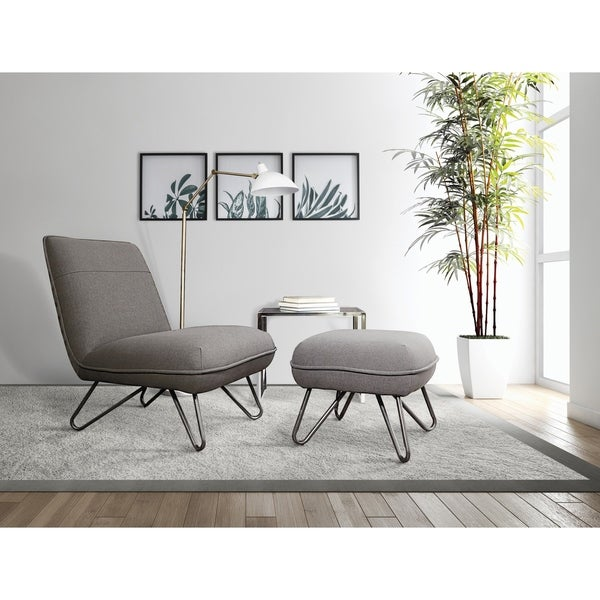 Strick & Bolton Inna Accent Chair and Ottoman