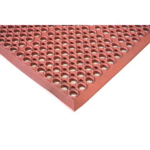 Buffalo Tools 3 x 5 Foot Industrial Rubber Floor Mat - Red