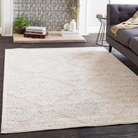 Siena Cream Chenille Lattice Area Rug - 7'10 x 10'3