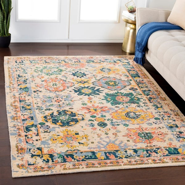 Emmett Wheat Traditional Wool Blend Area Rug - 8' x 11'