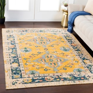 Zachariah Saffron Traditional Wool Blend Area Rug - 8' x 11'