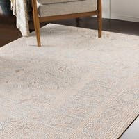 """Lucca Beige Distressed Mosaic Area Rug (9'3"""" x 12'3"""")"""