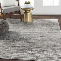 Albi Gray Contemporary Stripes Area Rug - 7'10 x 10'3