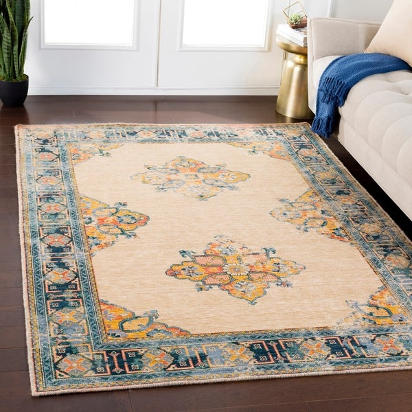Shop Gideon Wheat Traditional Wool Blend Area Rug